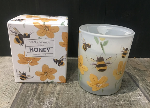 Gisela Graham Honey scented candle in bee and buttercup design 20hrs