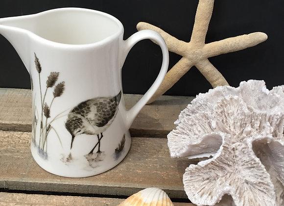 Gisela Graham bone China small sand piper milk jug