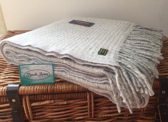 Tweedmill Textiles Pure New Wool Glacier/ Grey Treetop Throw/Blanket