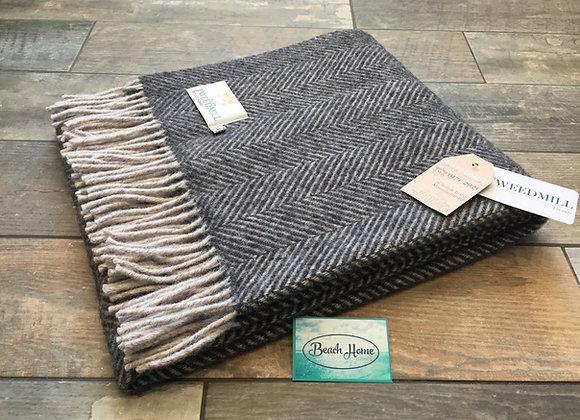 Tweedmill Textiles Charcoal & Grey Knee blanket