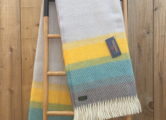 Tweedmill Textiles Pure New Wool Tidal Ombre Throw/Blanket