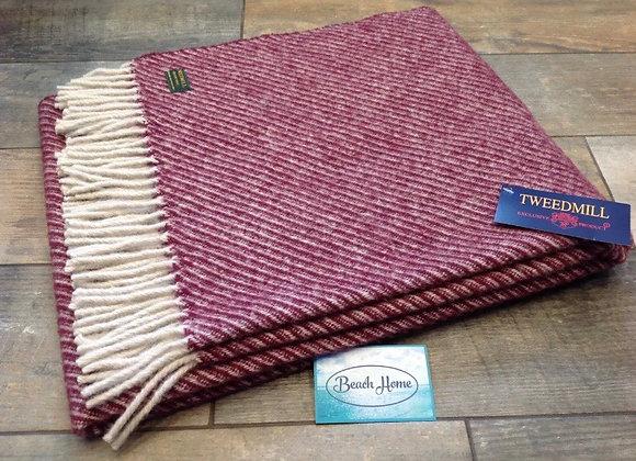 Tweedmill Textiles Rosewood Diagonal stripe Knee blanket