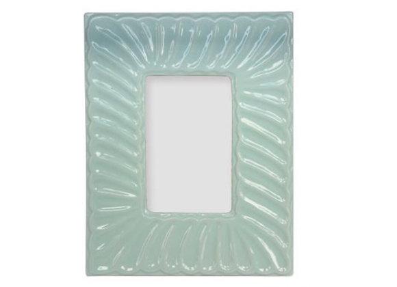 Gisela Graham pale Blue Ceramic Wave picture frame