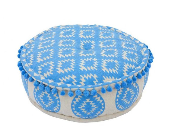 Bombay Duck Carnival Aztec Embroidered Nomad Pouff Footstool/Cushion