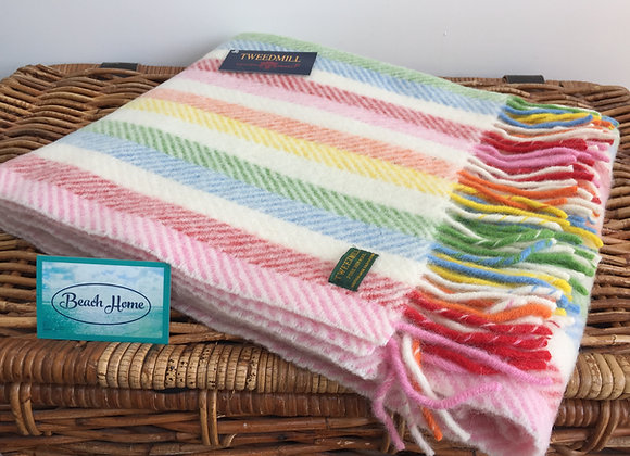 Tweedmill Textiles Rainbow stripe knee Blanket