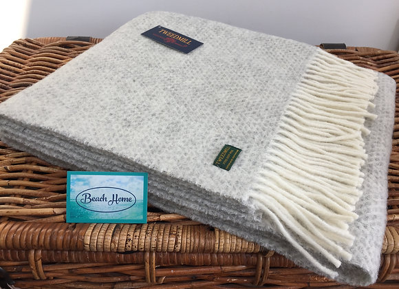 Tweedmill Textiles Grey Beehive knee blanket