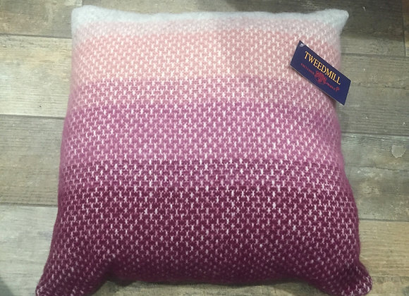 Tweedmill Textiles Pure New Wool Rosewood ombre 50x50 Cushion
