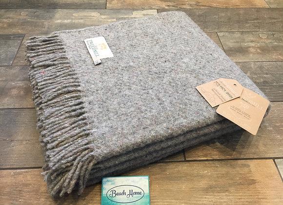 Tweedmill Textiles grey 50% wool 50% recycled wool Throw/Blanket