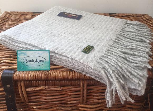 Tweedmill Textiles glacier and grey Treetop Pure wool knee blanket