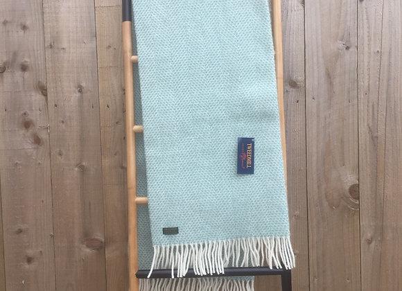 Tweedmill Textiles Ocean beehive pure wool knee blanket