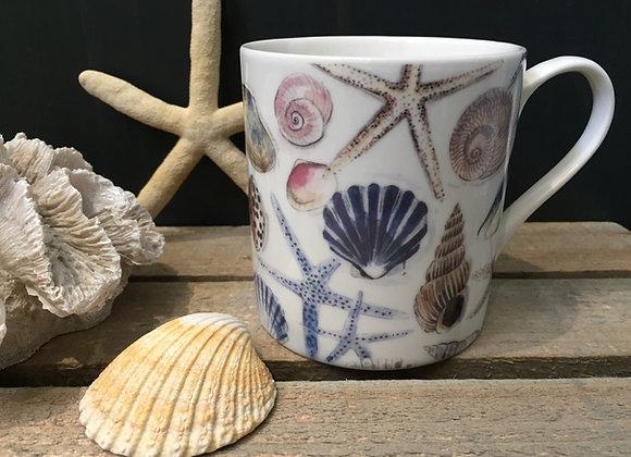 Gisela Graham bone China shells/ starfish mug