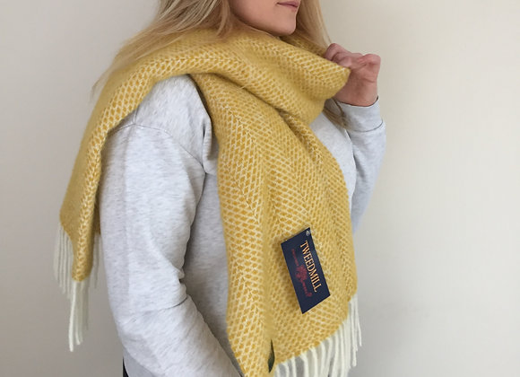 Tweedmill Textiles Yellow Beehive Pure Wool Scarf