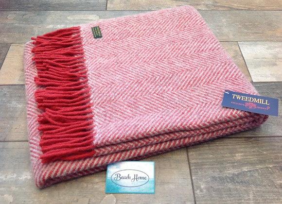 Tweedmill Textiles Watermelon & Grey Knee blanket