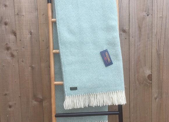 Tweedmill Textiles Pure New wool Ocean beehive blanket/ throw