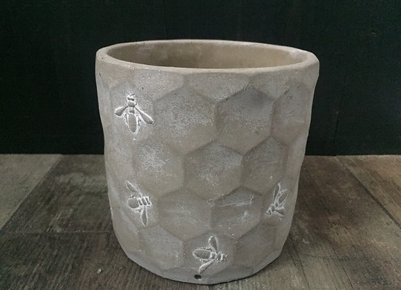 Parlane concrete bee and honeycomb planter