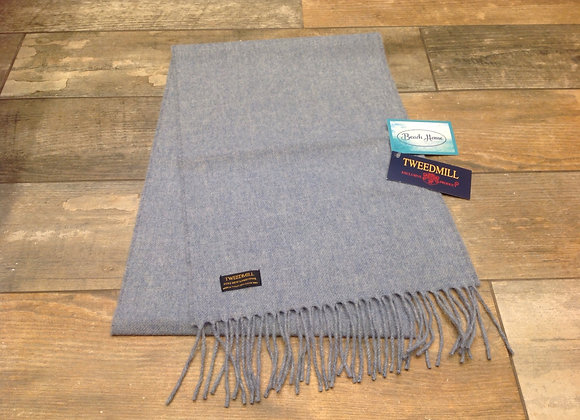Tweedmill Textiles Pure New Lambswool Stone Blue Scarf