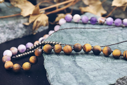 The Tiger/Amethyst Necklace