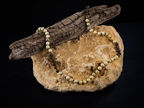 The Butter Jade/Bronzite Mala