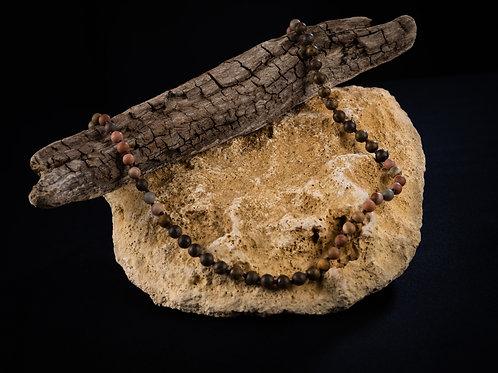 The Mookaite Bronzite Mala