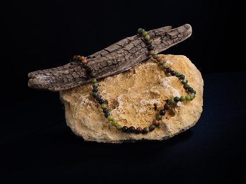 The Bronzite/Unakite/Jade Mala