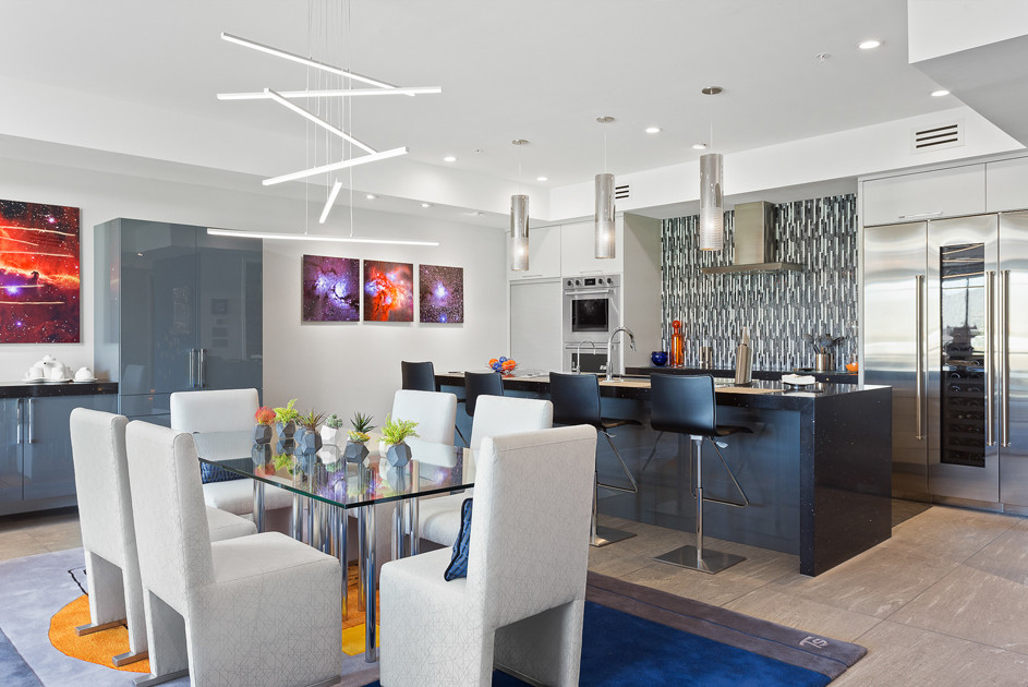 Bright and open Kitchen and Dining areas