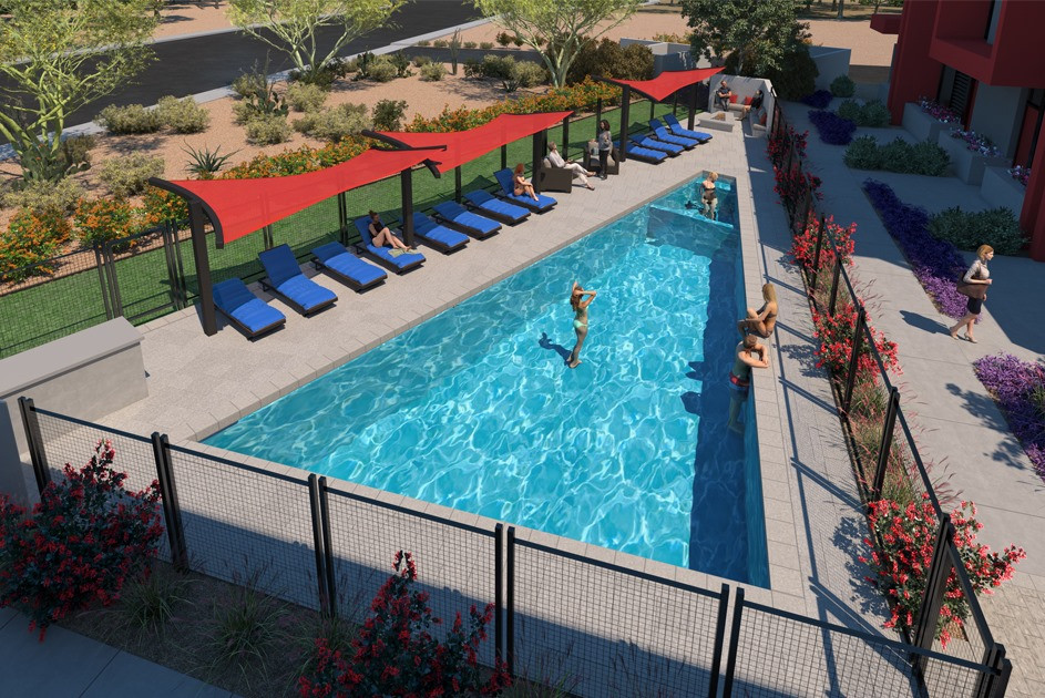 Phase II resort-style pool and spa.