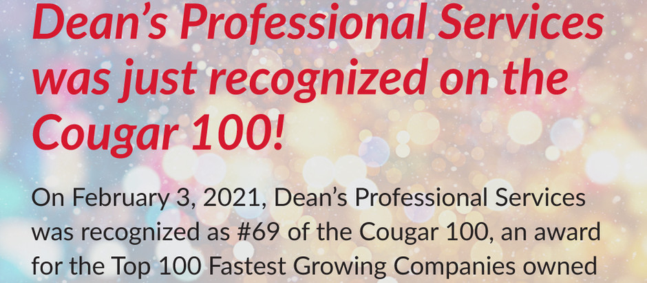 DPS Listed on the 2021 Cougar 100, Hosted by the UH Alumni Association