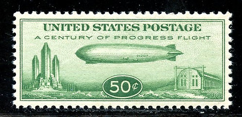 U.S. Scott C18 50 Cent Century of Progress Zeppelin XF-SUP MNH