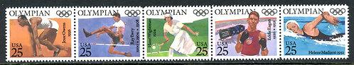 U.S. Scott 2496-2500 MNH Olympians Strip of Five
