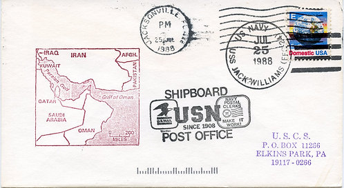 U.S. Scott 1147 On 1988 U.S.S. Jack Williams Cover