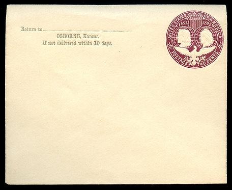 U.S. Scott U349 1893 Unused Columbian Expo Stamped Envelope