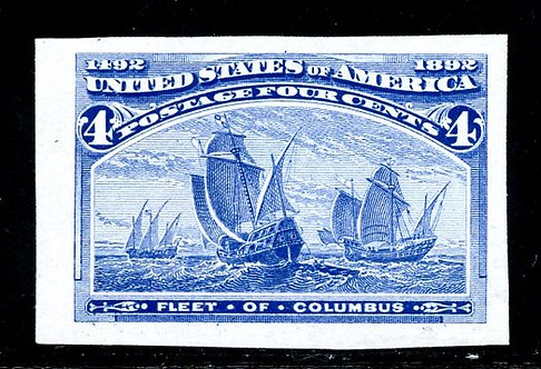 U.S. Scott 233P3 4 Cent Columbian Proof On India Paper