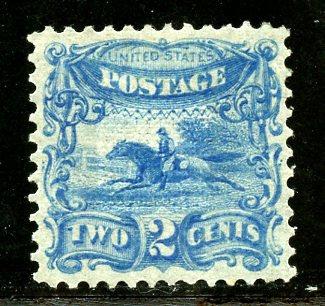 U.S. Scott 113-E3e 2 Cent 1869 Issue Blue Essay w/9x9mm Grill & Cert.