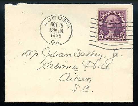 U.S. Scott 721 Horizontal Coil on Small Size 1938 Cover