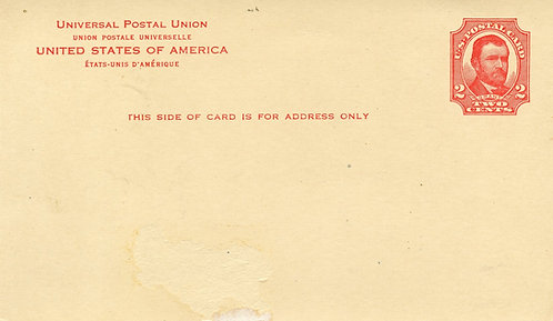 U.S. Scott UX25 Unused 2 Cent Postal Card Picturing U. S. Grant