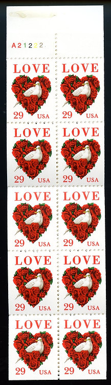 U.S. Scott 2814 MNH Booklet (BK214) Love Stamps