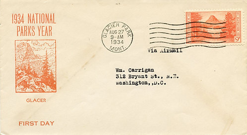 U.S. Scott 748 FDC Post Marked in Glacier National Park, Montana