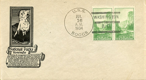 U.S. Scott 740 Unaddressed First Day Cover (FDC) Post Marked on USS Boggs