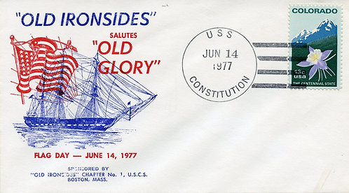 U.S. Scott 1711 On 1977 U.S.S. Constitution Flag Day Cover