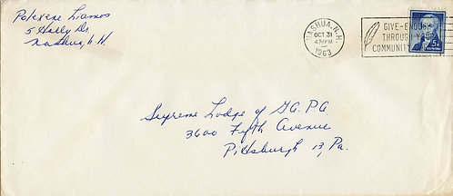 U.S. Scott 1038 on First-Class 1963 Cover