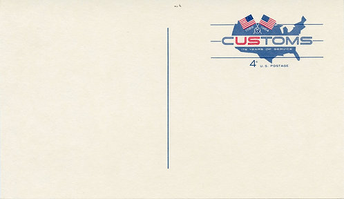 U.S. Scott UX50 Unused Postal Card Picturing U.S. Map and Flags