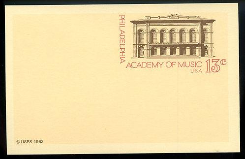 U.S. Scott UX96 Mint Postal Card Picturing the Philadelphia Academy of Music