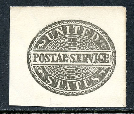 U.S. Scott UO14 Unused Postal Service Black Cut Square