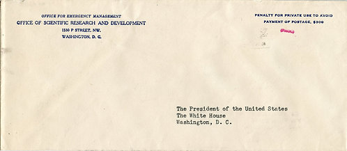 Government Penalty Envelope Addressed to the U.S. President (Harry S. Truman)