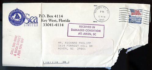 """U.S. Scott 2609 On Cover """"RECEIVED IN DAMAGED CONDITION AT: AIKEN, SC"""""""