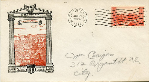 U.S. Scott 741 J. A. Roy First Day Cover (FDC) Post Marked in Washington, DC