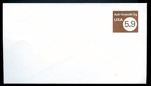 U.S. Scott U591 5.9 Cent Non-Profit Organization Stamped Envelope