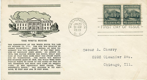 U.S. Scott 844 FDC Post Marked in Washington, DC