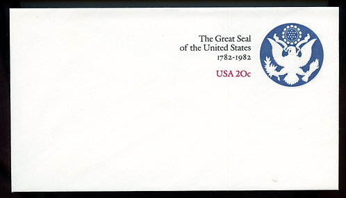 U.S. Scott U602 twenty cent Stamped Envelope Picturing The Great Seal of the US