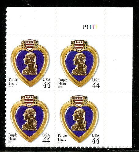 U.S. Scott 4390 44 Cent Purple Heart Plate Block